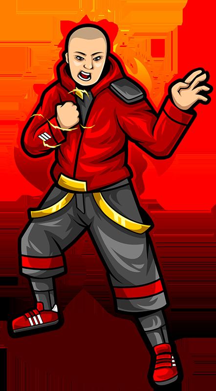 man-Illustration-red